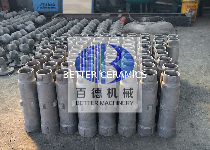 Ceramic Pipe Insulation / Refractory Silicon Carbide Tube 300 - 2100mm Length